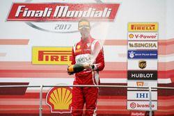 Podium: Race winner #11 Formula Racing Ferrari 488: Nicklas Nielsen