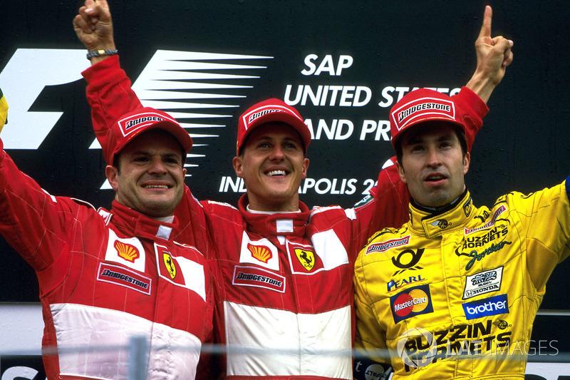 No mesmo ano mais tarde, Schumacher venceria no IMS no retorno dos EUA à Fórmula 1