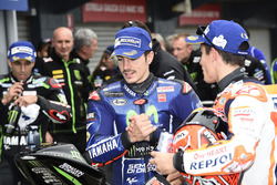 Second place Maverick Viñales, Yamaha Factory Racing, Marc Marquez, Repsol Honda Team