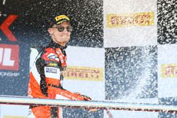 Podium: Chaz Davies, Ducati Team, Jonathan Rea, Kawasaki Racing, Tom Sykes, Kawasaki Racing