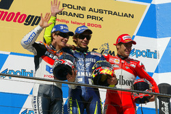 Podium: 1. Valentino Rossi, Yamaha Factory Racing; 2. Nicky Hayden, Repsol Honda Team; 3. Carlos Checa, Ducati Team