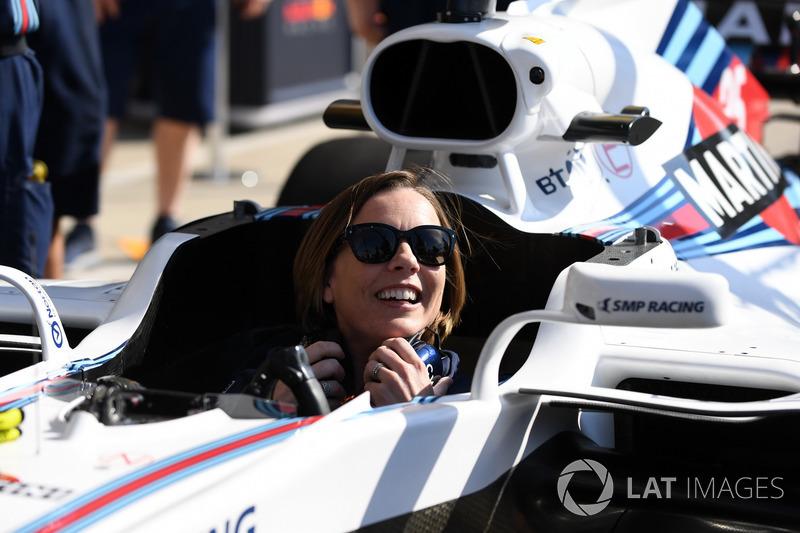 Claire Williams, directrice de Williams, dans la Williams FW41