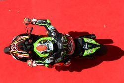 Tom Sykes, Kawasaki Racing rolt over de rode loper na het behalen van zijn pole position