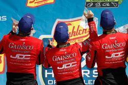 #99 JDC/Miller Motorsports ORECA 07, P: Stephen Simpson, Mikhail Goikhberg, Chris Miller, podium