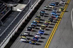 Martin Truex Jr., Furniture Row Racing, Toyota Camry Bass Pro Shops/5-hour ENERGY and Kasey Kahne, Leavine Family Racing, Chevrolet Camaro Thorne Wellness