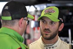Daniel Suarez, Joe Gibbs Racing, Interstate Batteries Toyota Camry and Eric Phillips