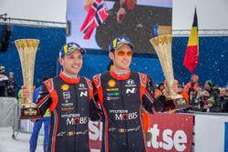 Les vainqueurs Thierry Neuville et Nicolas Gilsoul, Hyundai i20 WRC, Hyundai Motorsport