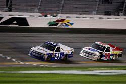 Johnny Sauter, GMS Racing Chevrolet Silverado, Scott Lagasse Jr., Young's Motorsports Chevrolet Silv