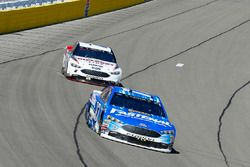 Ricky Stenhouse Jr., Roush Fenway Racing, Ford Fusion Fastenal and Brad Keselowski, Team Penske, For