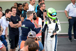 Race winner David Schumacher, Rasgaira Motorsports with his father Ralf Schumacher
