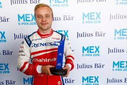 Felix Rosenqvist, Mahindra Racing, on pole position