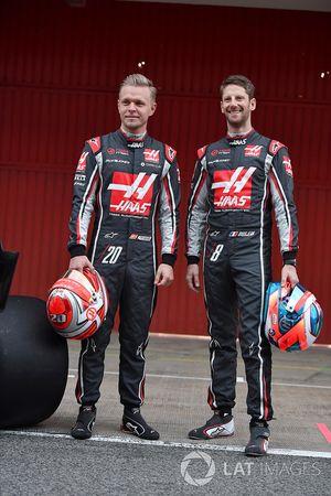 Kevin Magnussen, Haas F1 Team e Romain Grosjean, Haas F1 Team