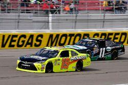 Brandon Jones, Joe Gibbs Racing, Toyota Camry Menards and Ryan Truex, Kaulig Racing, Chevrolet Camar