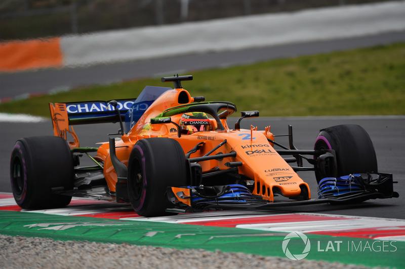 Stoffel Vandoorne, McLaren MCL33, aero paint on halo
