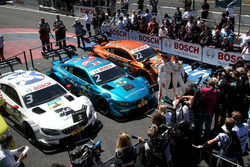 Top 3 after the race, Race winner Gary Paffett, Mercedes-AMG Team HWA, second Paul Di Resta, Mercedes-AMG Team HWA, third place Lucas Auer, Mercedes-AMG Team HWA
