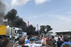 Lexus GT3 on fire
