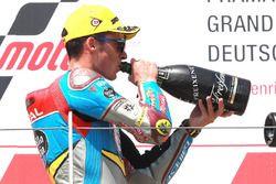 Podio: segundo clasificado Joan Mir, Marc VDS Moto2