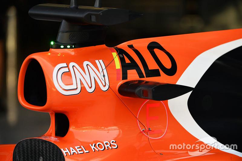 McLaren MCL32 caja de aire