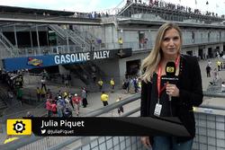 Julia Piquet op Indianapolis Motor Speedway