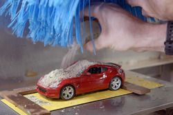 Túnel de lavado a escala de Nissan