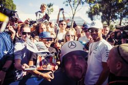 Lewis Hamilton, Mercedes-Benz F1 with fans