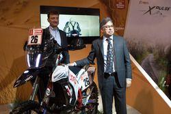 Pawan Munjal, CEO of Hero Motocorp, Dr. Markus Braunsperger, CTO of Hero Motocorp and Hero MotoSports Team Rally bike