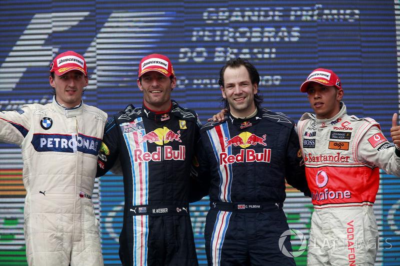 2009 : 1. Mark Webber, 2. Robert Kubica, 3. Lewis Hamilton