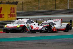 #2 Porsche Team Porsche 919 Hybrid: Timo Bernhard, Earl Bamber, Brendon Hartley, #92 Porsche GT Team
