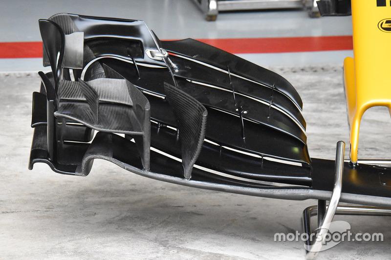 Morro y alerón delantero del Renault Sport F1 Team RS17