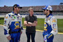 Chase Elliott, Hendrick Motorsports, Chevrolet Camaro NAPA Auto Parts y Bill Elliott