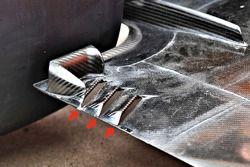 Détails du plancher de la McLaren MCL33