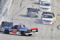 Stewart Friesen, Halmar Friesen Racing, Chevrolet Silverado We Build America, Brett Moffitt, Hattori Racing Enterprises, Toyota Tundra AISIN Group, spin