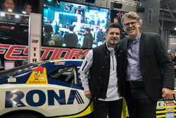 Alex Tagliani, Charles Valois, Vice-president of RONA, Lowe's Canada