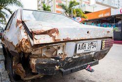 Beat-up car