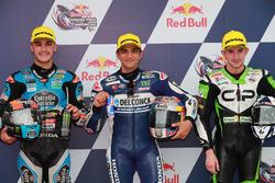 Top3 después de la calificación:: Aron Canet, Estrella Galicia 0,0, Jorge Martin, Del Conca Gresini Racing Moto3, John McPhee, CIP-Unicom Starker