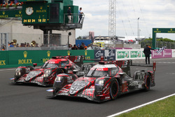 #1 Rebellion Racing Rebellion R-13: Andre Lotterer, Neel Jani, Bruno Senna #3 Rebellion Racing Rebellion R-13: Thomas Laurent, Mathias Beche, Gustavo Menezes