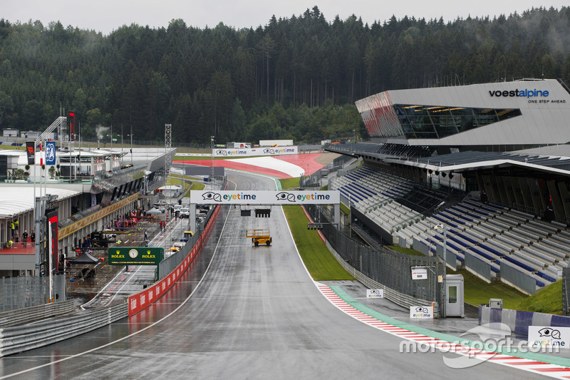 Start/finish straight at Red Bull Ring at Spielberg