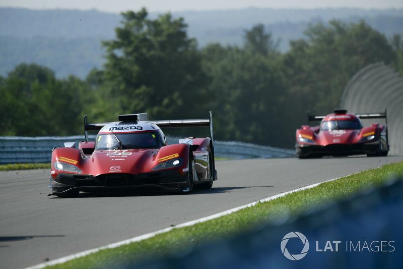 #77 Mazda Team Joest Mazda DPi, P: Oliver Jarvis, Tristan Nunez, René Rast, #55 Mazda Team Joest Mazda DPi, P: Jonathan Bomarito, Spencer Pigot, Harry Tincknell