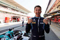 Alexander Albon, DAMS celebra la pole position