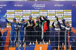 LMP3 Podio: ganadores #11 Eurointernational Ligier JS P3 - Nissan: Giorgio Mondini, Kay Van Berlo, segundo #6 360 Racing Ligier JS P3 - Nissan: Terrence Woodward, Ross Kaiser, James Swift, tercero #3 United Autosports Ligier JS P3 - Nissan: Anthony Wells, Garret Grist, Matthew Bell