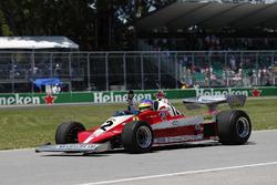 Jacques Villeneuve drives his father's, Gilles Villeneuve, 1978 Ferrari 312T