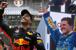 Daniel Ricciardo, Red Bull Racing y Michael Schumacher, Benetton
