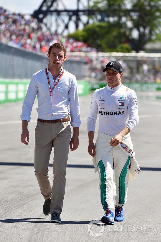 Paul di Resta, Sky TV and Valtteri Bottas, Mercedes-AMG F1 in parc ferme