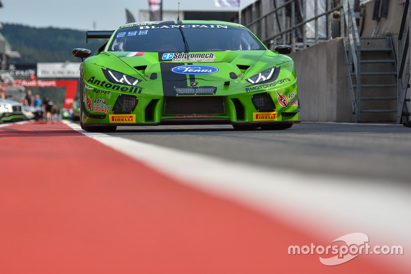#18 Antonelli Motorsport Lamborghini Huracan GT3: Juan Perez, Gianluca Giraudi, Loris Spinelli, Altoè Giacomo