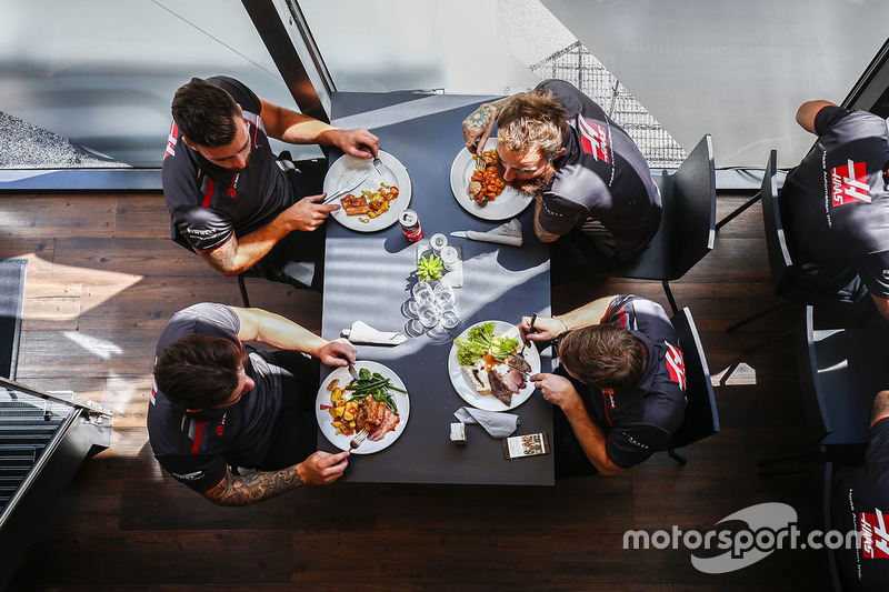 Haas Team at lunch