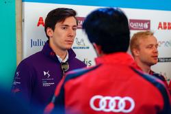 Alex Lynn, DS Virgin Racing, talks to Lucas di Grassi, Audi Sport ABT Schaeffler