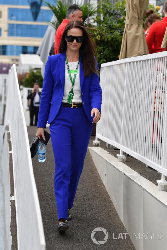 Minttu Virtanen, wife of Kimi Raikkonen, Ferrari