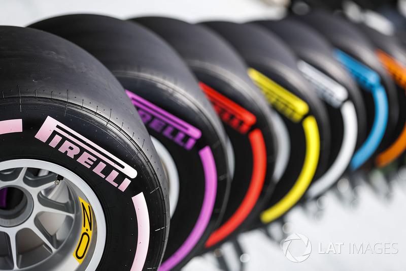 La gama completa de neumáticos Pirelli de clima seco F1