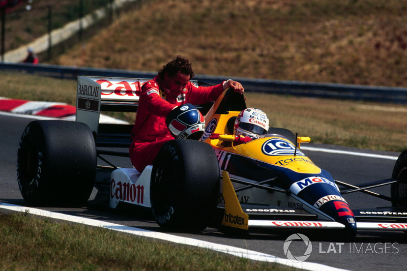 Budapest 1988 : Nigel Mansell (Williams) lleva a Gerhard Berger (Ferrari)
