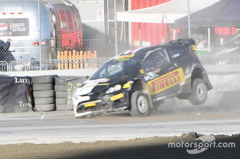 Incidente per Oliver Solberg, Ford Fiesta WRC